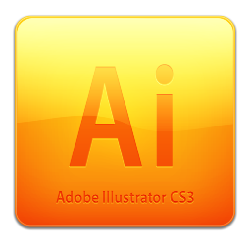 512x512 of Ai CS3 Icon (clean)