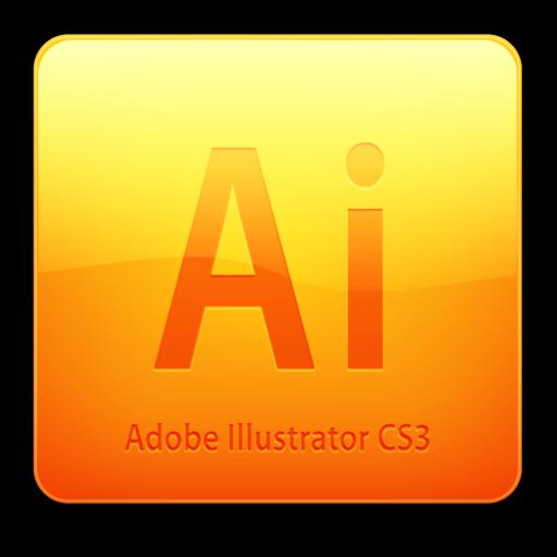 512x512 of Ai CS3 Icon (clean)