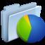 64x64 of Charts Folder Badged