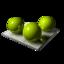 64x64 of 3 Green Spheares