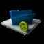 64x64 of Blue Folder Delete