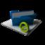 64x64 of Blue Folder Full Blocked
