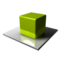 64x64 of Green Cube