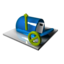 64x64 of Mailbox Blocked Blue