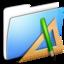 64x64 of Aqua Smooth Folder Applications