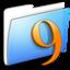 64x64 of Aqua Smooth Folder Classic