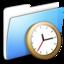 64x64 of Aqua Smooth Folder Clock