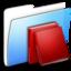 64x64 of Aqua Smooth Folder Library