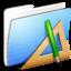 64x64 of Aqua Stripped Folder Applications