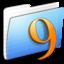 64x64 of Aqua Stripped Folder Classic