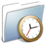 64x64 of Graphite Smooth Folder Clock