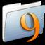 64x64 of Graphite Stripped Folder Classic