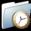 64x64 of Graphite Stripped Folder Clock