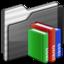 64x64 of Library Folder black