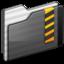 64x64 of Security Folder black