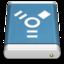 64x64 of Blue External Drive FireWire