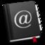 64x64 of AddressBook Black