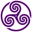64x64 of Purple Wheeled Triskelion 1