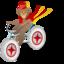 64x64 of Monkey bicycle