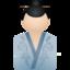64x64 of Kimono women blue