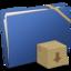 64x64 of Blue Elastic Drop Box