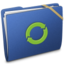 64x64 of Blue Elastic iDisk