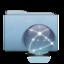 64x64 of Folder Blue Globe Graphite