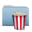 64x64 of Folder Blue Pop Corn