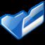 64x64 of Folder blue open