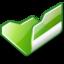 64x64 of Folder green open