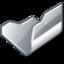 64x64 of Folder grey open