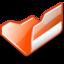 64x64 of Folder orange open