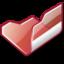 64x64 of Folder red open
