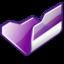 64x64 of Folder violet open