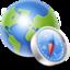 64x64 of Globe compass