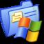 64x64 of Folder Blue Windows