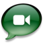 64x64 of iChat donkergroen