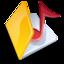 64x64 of Folder music yellow