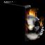 64x64 of Cd burner burning