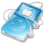 64x64 of ipod video blue apple