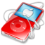 64x64 of ipod video red apple