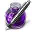 64x64 of Purple Fire w silver pen