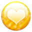 64x64 of Gold button heart