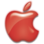 64x64 of Apple Logo Red