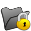 64x64 of Folder black locked