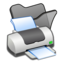 64x64 of Folder black printer