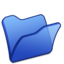 64x64 of Folder blue