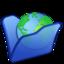 64x64 of Folder blue internet