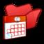64x64 of Folder red scheduled tasks