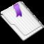 64x64 of Favorites Flag Purple